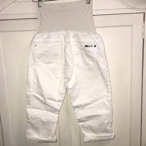 Buffalo David Bitton Jeans - BUFFALO DAVID BITTON MATERNITY WHITE CROPPED JEANS